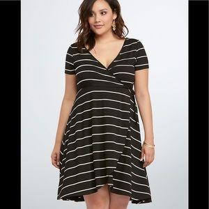torrid Dresses - TORRID Striped Wrap Dress